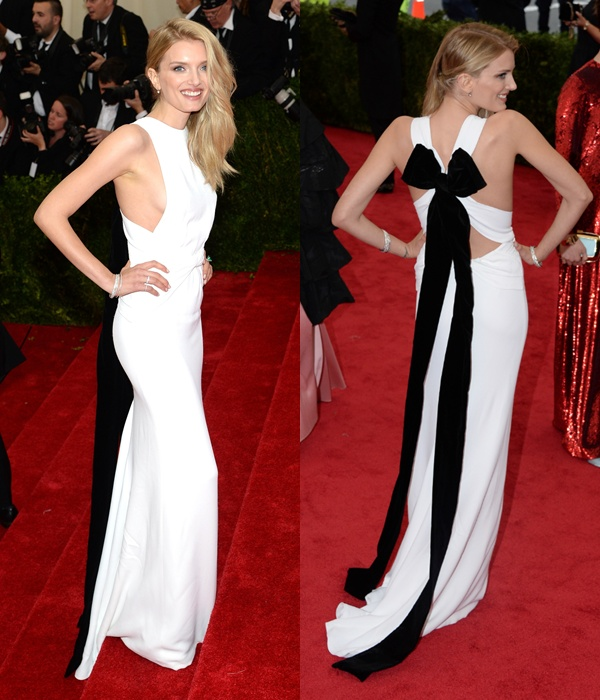 4 Lily Donaldson wearing Burberry to the Metropolitan Museum of Art 2014 Costume Institue Gala, 5 May 2014