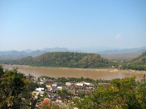 Vista a Luang Prabang desde el Phu Si