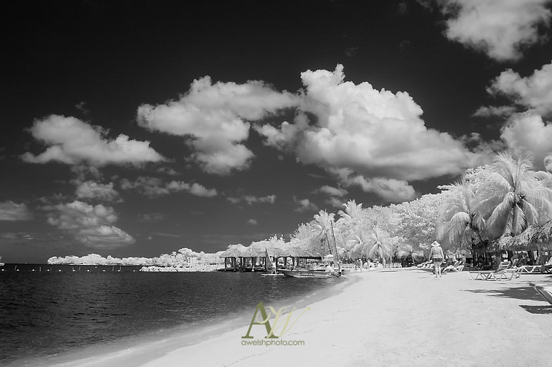 Andrew Welsh Wedding Photographer Sandals Negril Jamaica International Destination Photography underwater beach sand outdoor infrared IR
