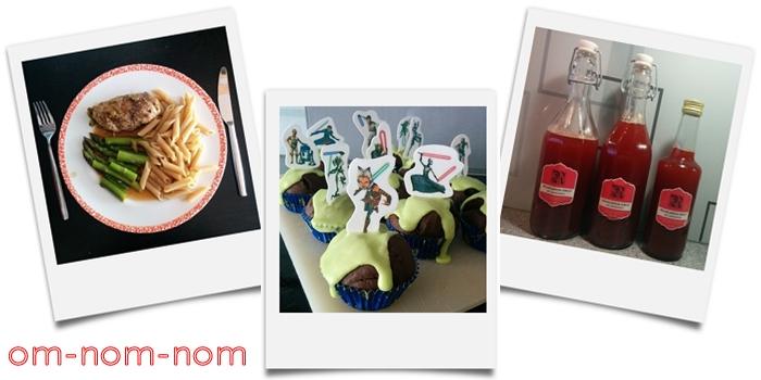 Rhabarbersirup | Star Wars Muffins | Roulade mit Spargel & Nudeln