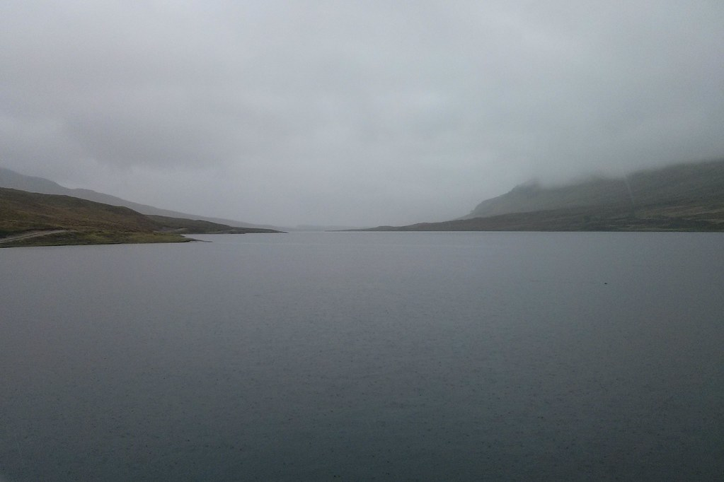 Looking up Loch a' Bhraoin