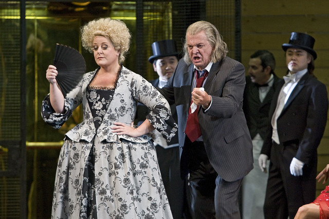 Deborah Voigt as Prima Donna / Ariadne and Thomas Allen as Music Master in Ariadne auf Naxos, The Royal Opera © ROH / Clive Barda 2008