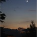 The Moon and Venus from Weatherly, Pennsylvania