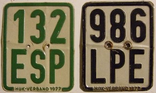 GERMANY 1977 and 1978 ---MOPED PLATES