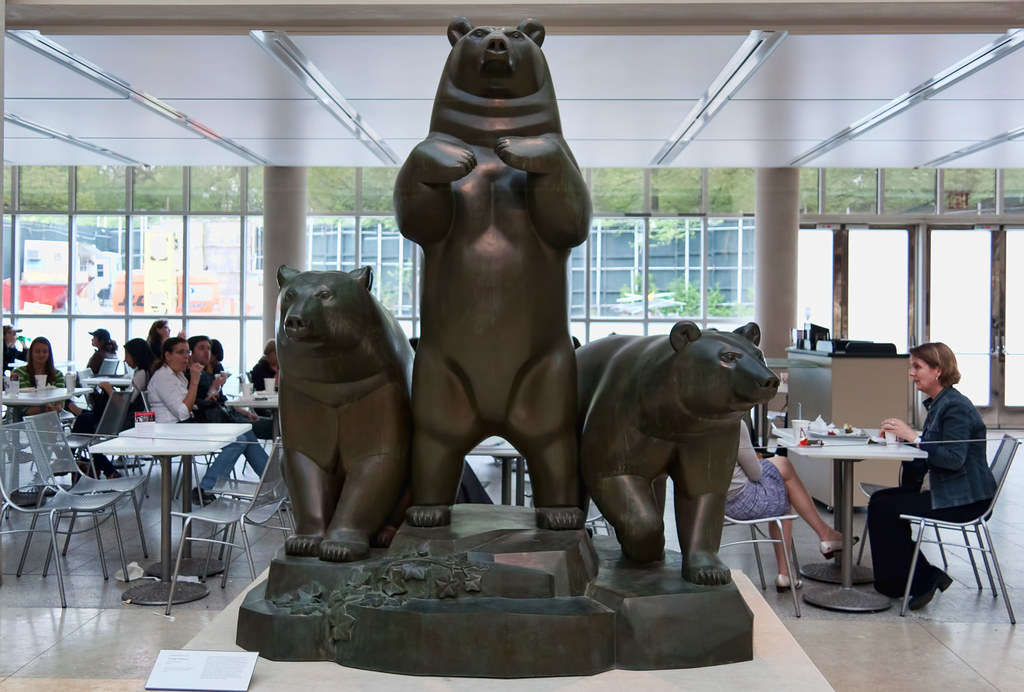 Bronze Group of Bears, 1932; this cast 1963 Paul Manship (1885–1966)  The Metropolitan Museum allows photo shooting providing there is no financial gain.  Please respect their policy