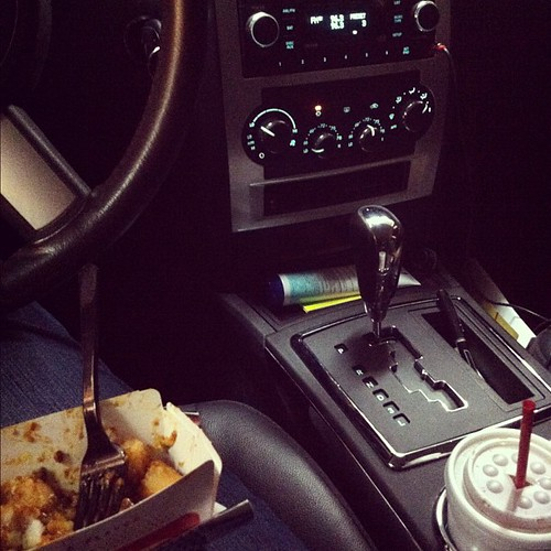It's come to this. Sitting at Sonic. Alone. Sweet Tea. Chili cheese tots. 80's station. #ranawayfromhome #momsneedtimeoutstoo