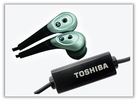 toshiba in ear earphones