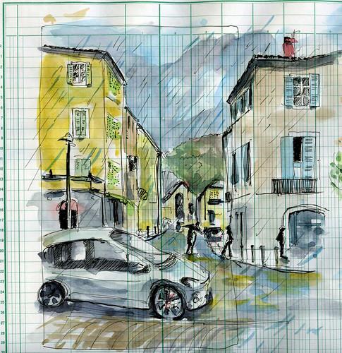 il pleut sur Cahors by Stéphane Feray