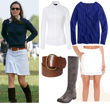 Kate Middleton casual look for less - riding boots