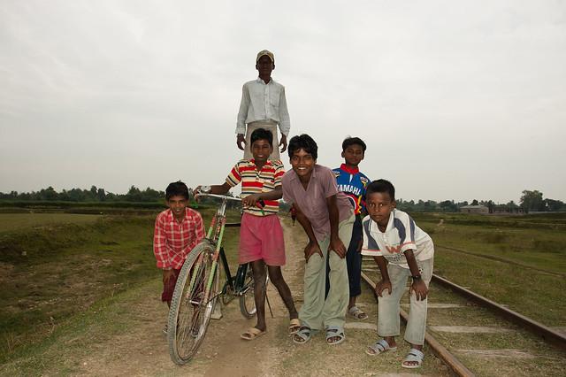 Boys in railways