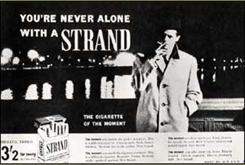 Strand cigarette ad