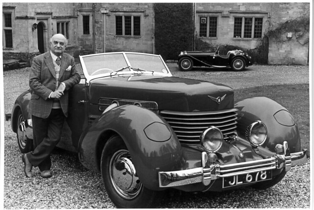 James Leasor with his Cord and SS100
