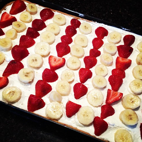 Fruit pizza...it's healthy since there is fruit, right?