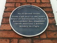 Photo of Marmaduke Gwyn blue plaque
