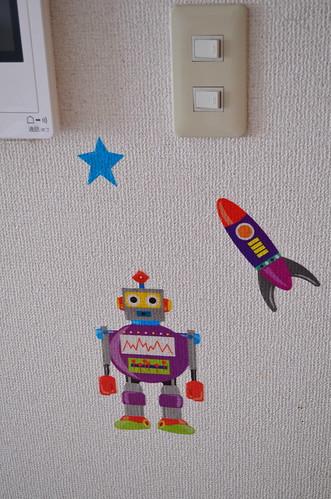 ウォールステッカー ロボット&宇宙