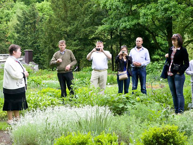 people. Botanic garden. Lviv, Ukraine