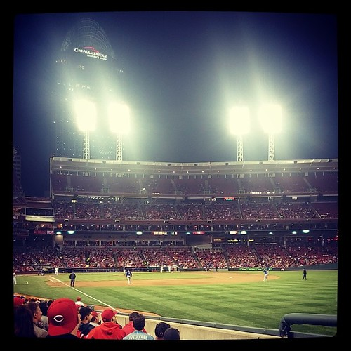 Reds versus Cubs from GABP with @genmae5 on the anniversary of our first date three years ago...