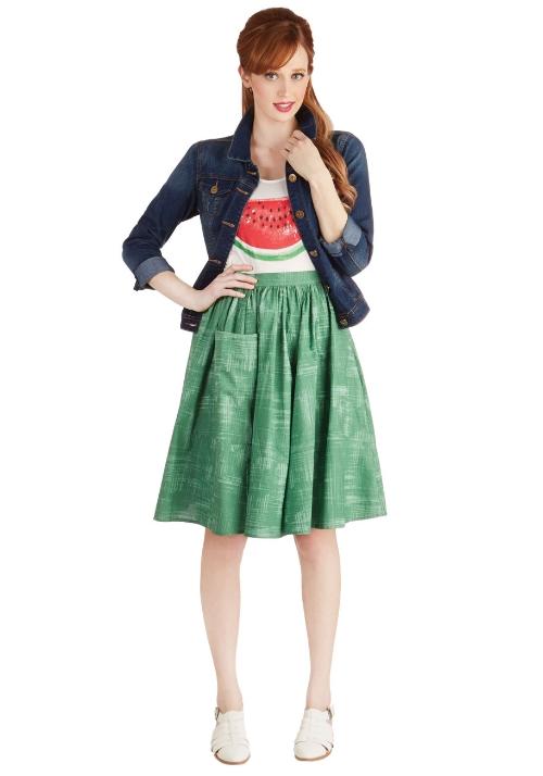 Modcloth Grass is Greenest Skirt