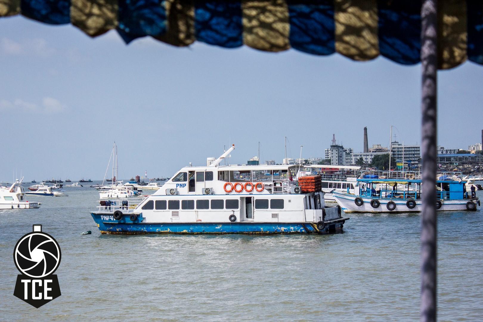 A Boat in Mumbai Harbor