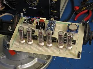 arduino nixie clock, in development