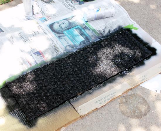 Hi Sugarplum | DIY Colorblock Doormat
