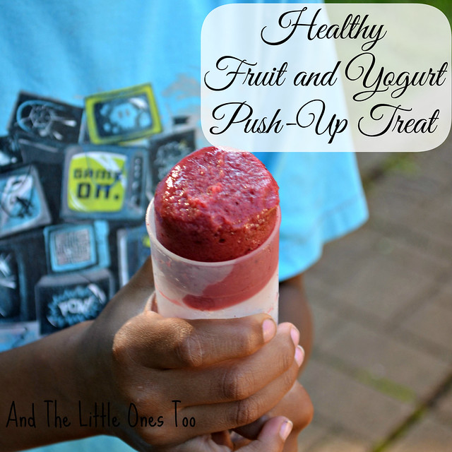 Healthy Fruit and Yogurt Push-Up Treat