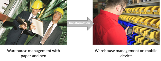 Transformation in warehouse management