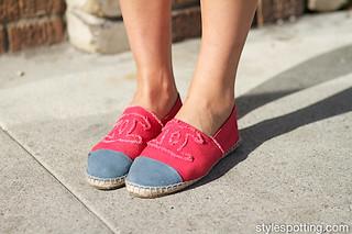 Los Angeles streetstyle: Chanel espadrilles