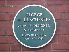 Photo of George Lanchester green plaque