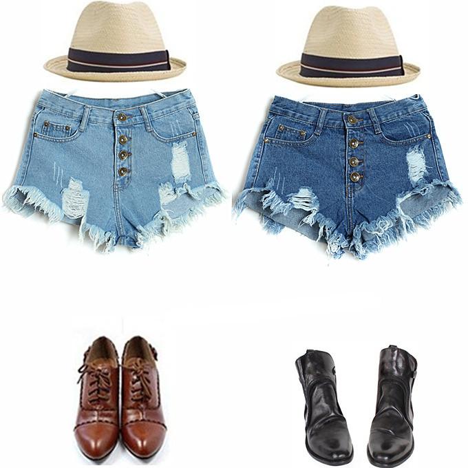 B2 Denim shorts 1