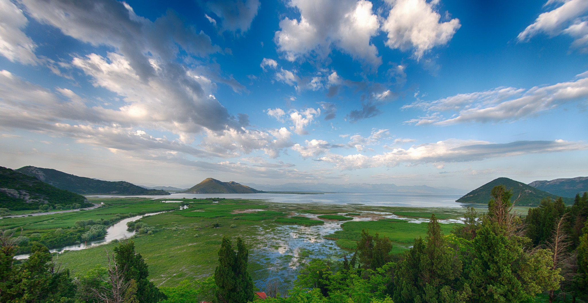 Lake Skadar from Besac Castle