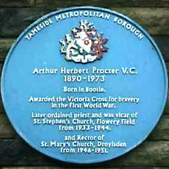 Photo of Arthur Herbert Procter blue plaque