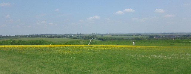 view from Old Sarum towards Beacon Hill