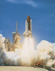 winter(0.0), snow(0.0), rocket(1.0), space shuttle(1.0), spacecraft(1.0), vehicle(1.0),