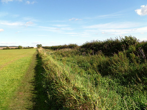 The ditch just west of Milecastle 17