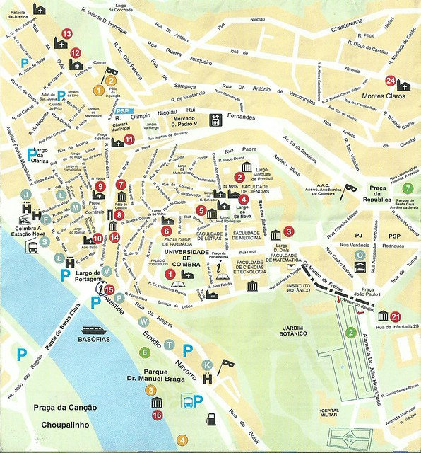 mapa das ruas de coimbra Roteiro de 1 dia em Coimbra mapa das ruas de coimbra