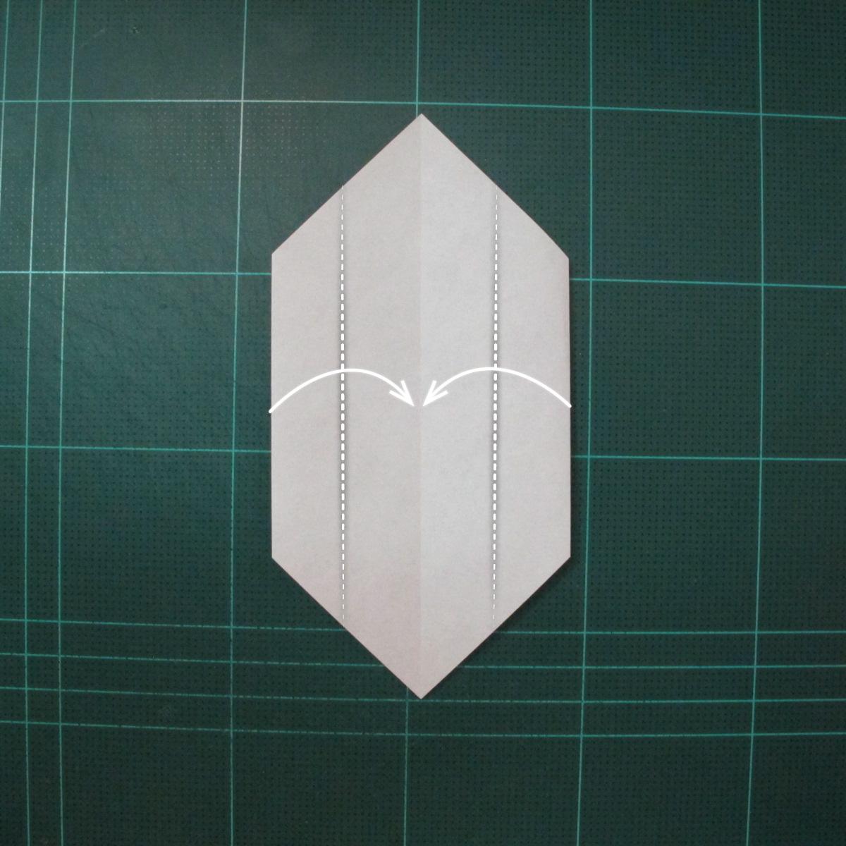 วิธีพับกระดาษเป็นที่คั่นหนังสือรูปหมาบูลด็อก (Origami Bulldog Bookmark) 003