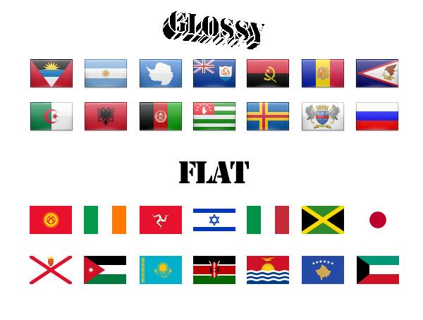 Иконки - флаги народов мира