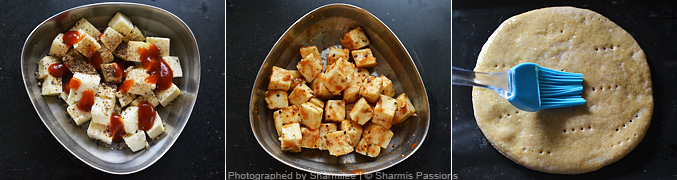 How to make paneer pizza - Step3