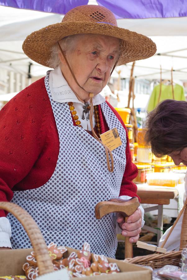 The grandmother. бабулечка
