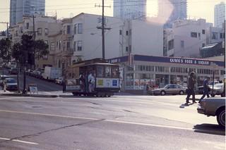 Greenwich & Mason Streets, San Francisco, Feb 1988.