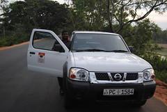 nissan terrano ii(0.0), automobile(1.0), automotive exterior(1.0), pickup truck(1.0), vehicle(1.0), nissan(1.0), bumper(1.0), nissan navara(1.0), land vehicle(1.0),