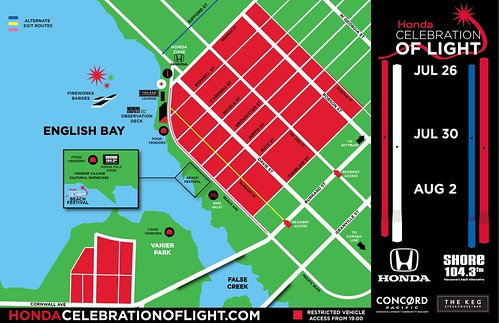 FESTIVAL MAP - Vancouver Festival of Light Firework Festival 2014