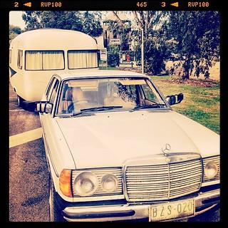 365/144 • first stop on our little caravanning holiday - Coal Creek in #korumburra for snacks and swings • #300d #w123 #2014_ig_144 #sunliner #vintagecaravan #thesmallsandme