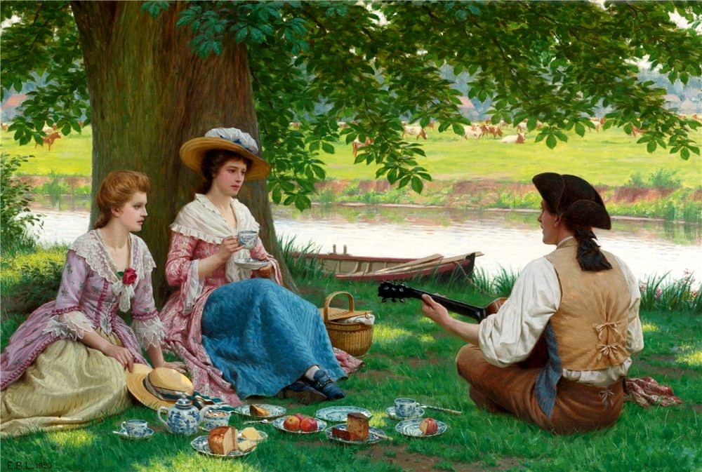 A Picnic Party by Edmund Blair Leighton