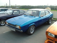 race car, automobile, automotive exterior, vehicle, compact car, ford capri, ford, sedan, land vehicle, coupã©, sports car,