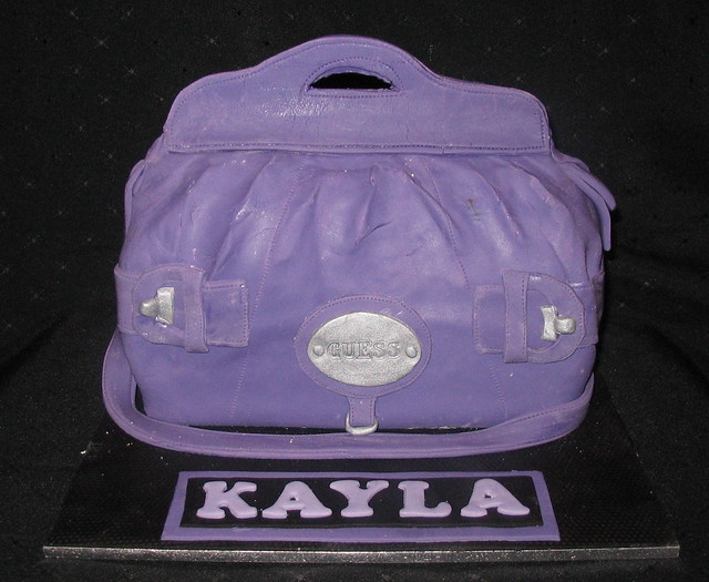 Purple Handbag Birthday Cake By Cakes Of Distinction Cork Ireland ...