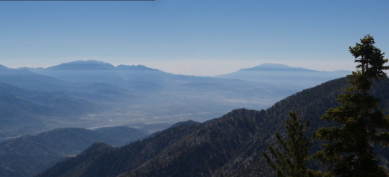 San Gorgonio and San Jacinto from Telegraph Peak