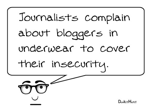 Journalists complain about bloggers
