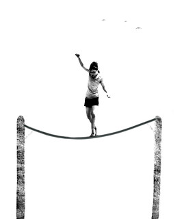 Tightrope Walker (caught on the bounce)